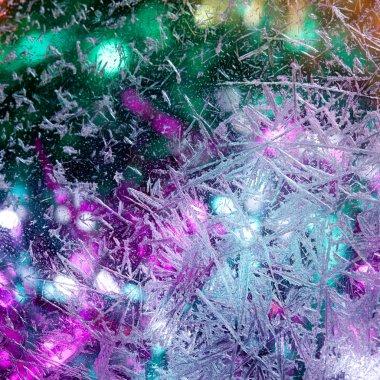 Pattern on Frozen window