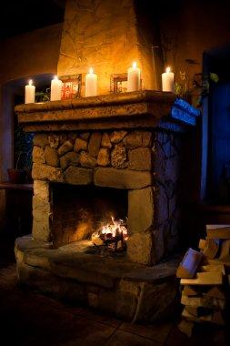 Fireplace room interior