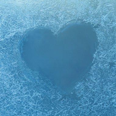 Frozen heart on Window