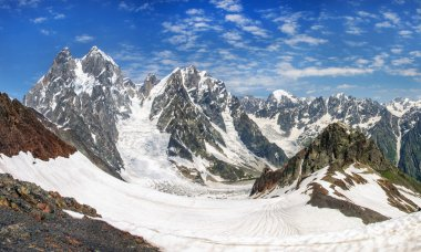 Ushba mountain in the Main Caucasian ridge.