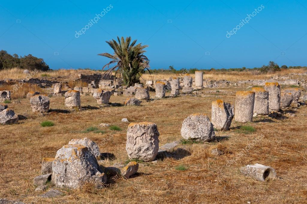 Ancient ruins of Salamis in Cyprus
