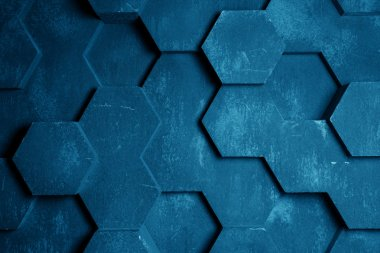 Blue Hexagon Background Texture