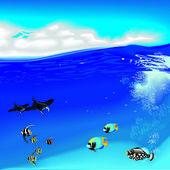 Fényképek Víz alatti fishs és skats