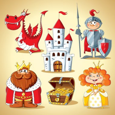 Set of fairy-tale characters