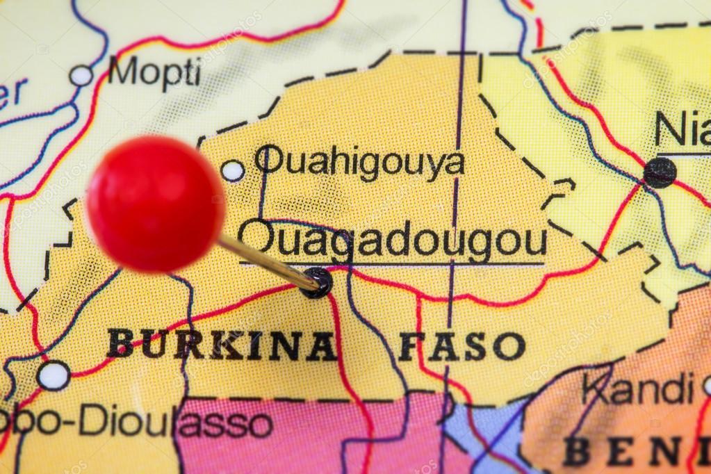 Pin in a map of Ouagadougou Stock Photo TuomasLehtinen 96033358