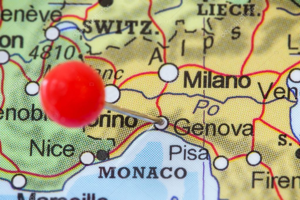 Italien Karta Genova.Pin En Karta Over Genova Stockfotografi C Tuomas Lehtinen 97388452