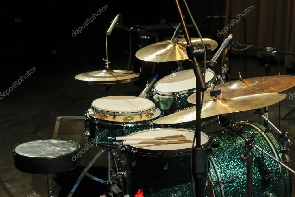 Drum Set On Stage Stock Photo C Bernardojbp 109564060