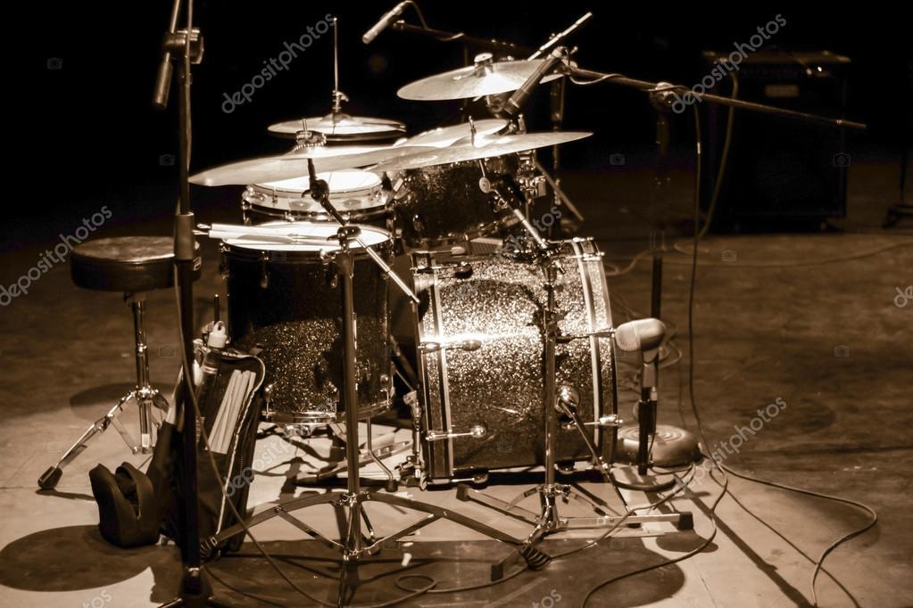 Drum Set On Stage Stock Photo C Bernardojbp 109564784