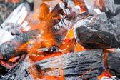 Fotografia fuoco con carbone di legna legno