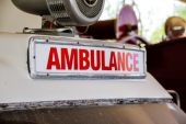 Photo Retro ambulance sign