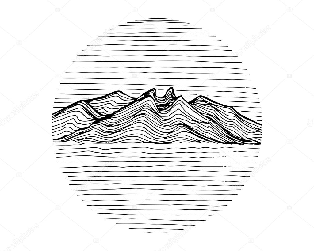 abstract mountains landscape