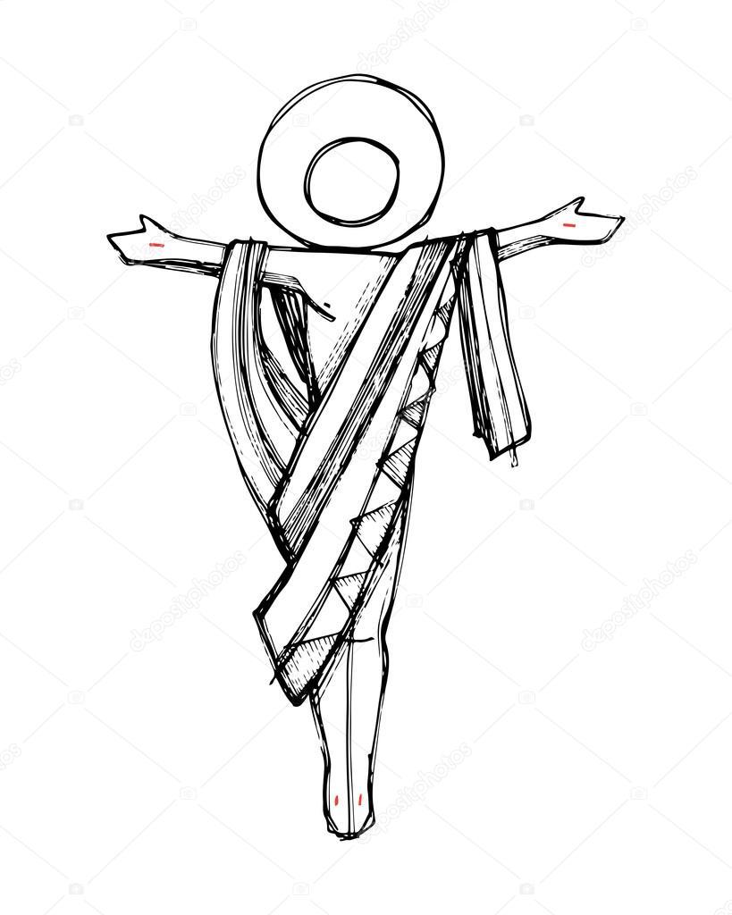 Imágenes La Resurreccion De Jesus En Blanco Y Negro Concepto De