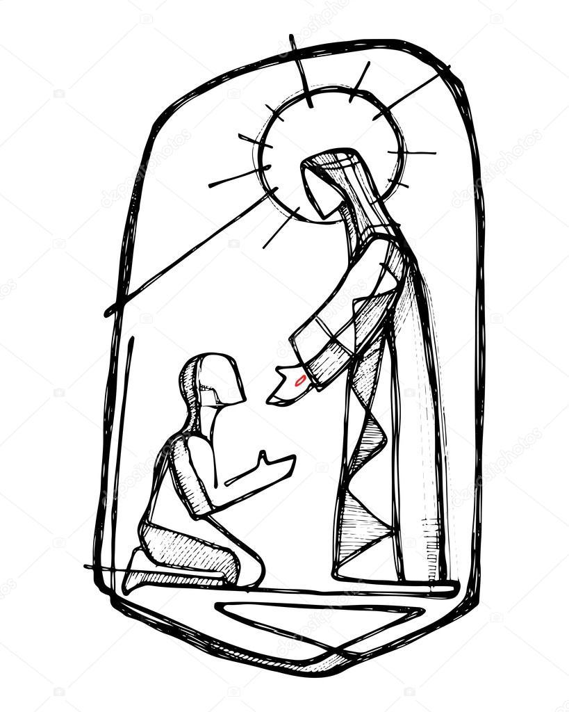 Hombre sanador de Cristo Jesús — Archivo Imágenes Vectoriales ...