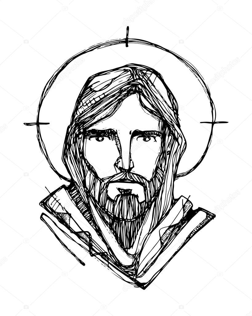 Line Drawing Jesus Face : Jesus christ face — stock vector bernardojbp
