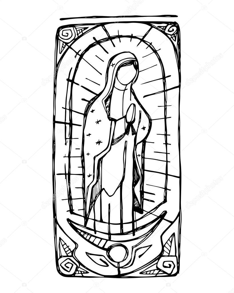 Virgen María de Guadalupe — Archivo Imágenes Vectoriales ...