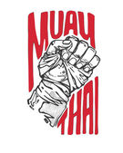 Muay Thai - banner with fist
