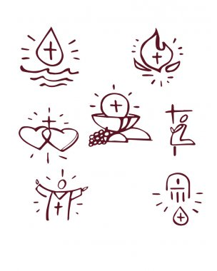 Hand drawn Sacraments
