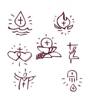 Hand drawn Sacraments