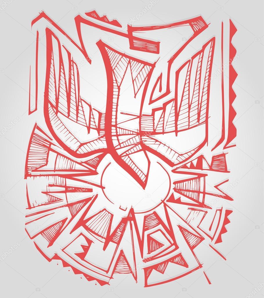 Holy spirit drawing stock vector bernardojbp 73620977 hand drawn vector illustration or drawing of a dove bird representing the holy spirit symbol in the christian catholic faith vector by bernardojbp biocorpaavc