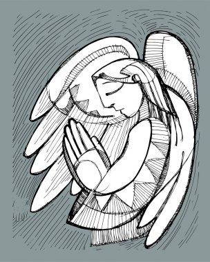 Praying Guardian Angel
