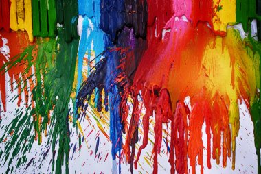 Melted crayons abstract background