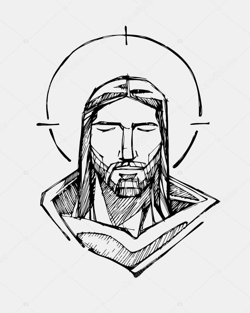 Rostro Sereno De Cristo Jesús Vector De Stock Bernardojbp 83458948