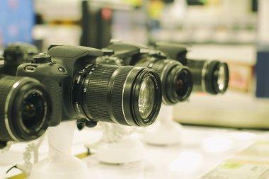 Reflex camera at store