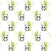 Fotografia Fondo senza cuciture con panda del fumetto. Panda e b