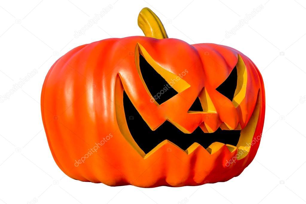 Immagine Zucca Di Halloween 94.Zucca Di Halloween Con Ombra Isolata Su Bianco Foto Stock