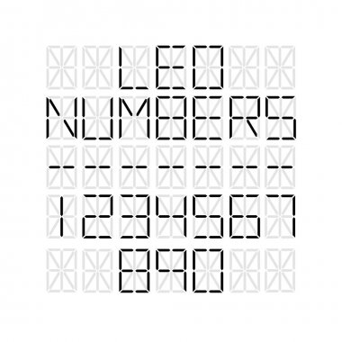 Set of numbers on LED screen