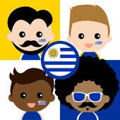 Fotografia Gruppo di tifosi felici di Uruguay