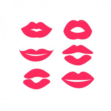 Set of woman's lips