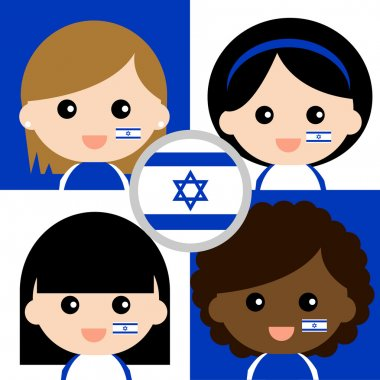 Group of happy Israel's supporters