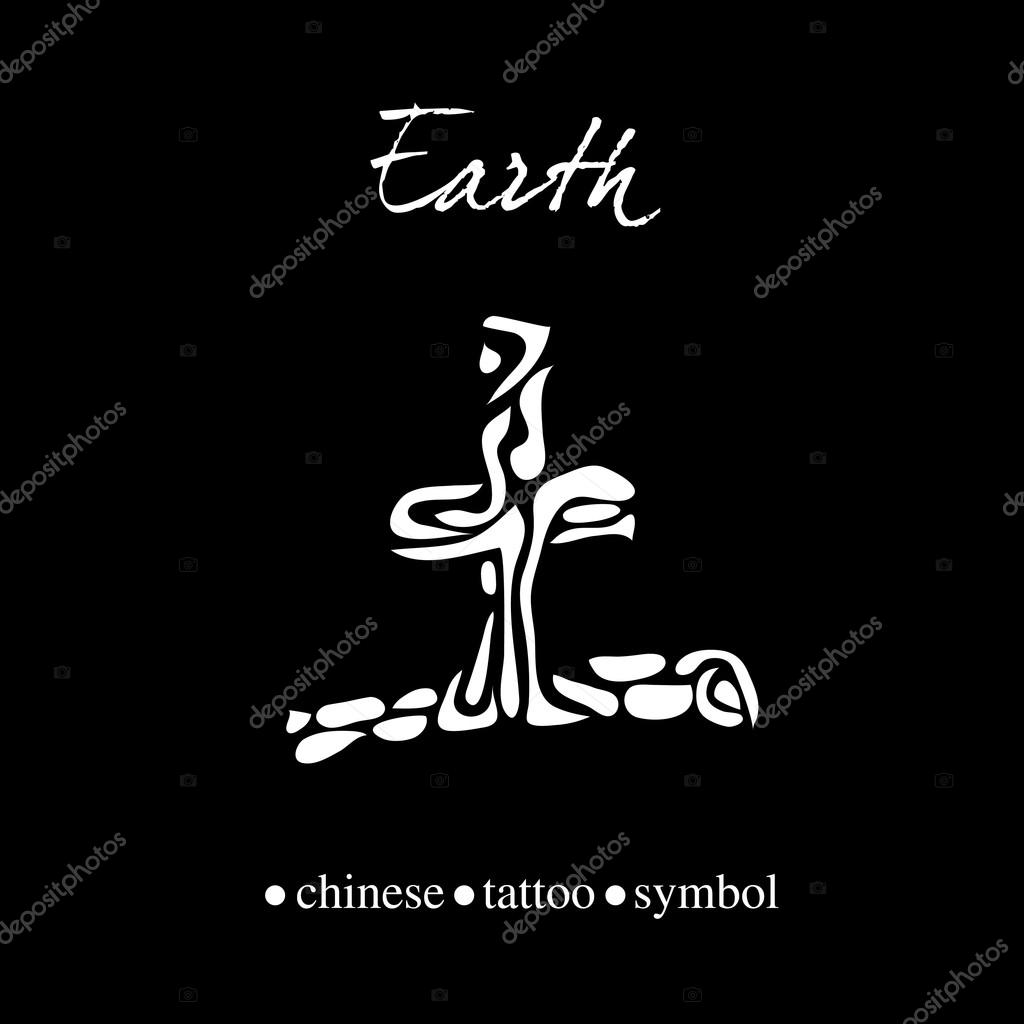 Chinese Character For Earth Stock Vector Esbeauda 63660953