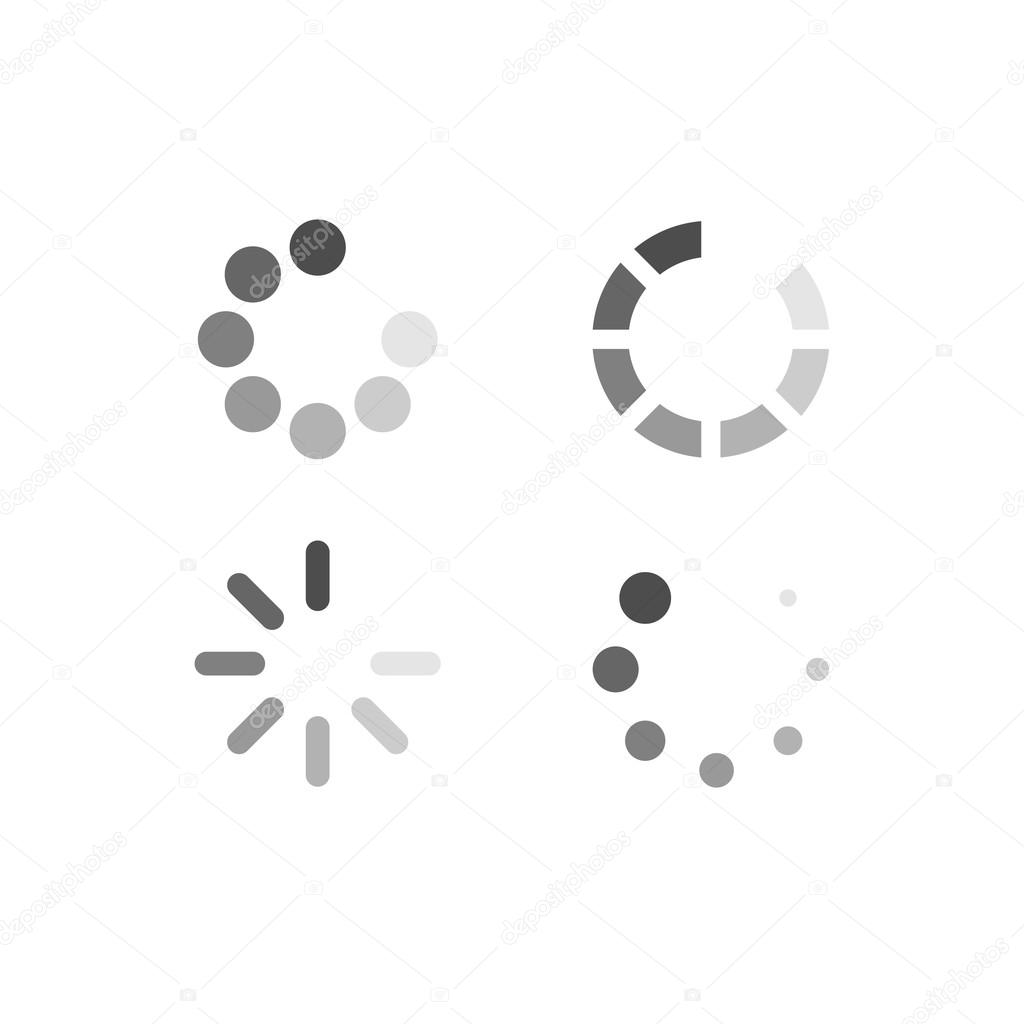 Set of loading symbols stock vector esbeauda 63661183 set of loading symbols stock vector biocorpaavc Image collections