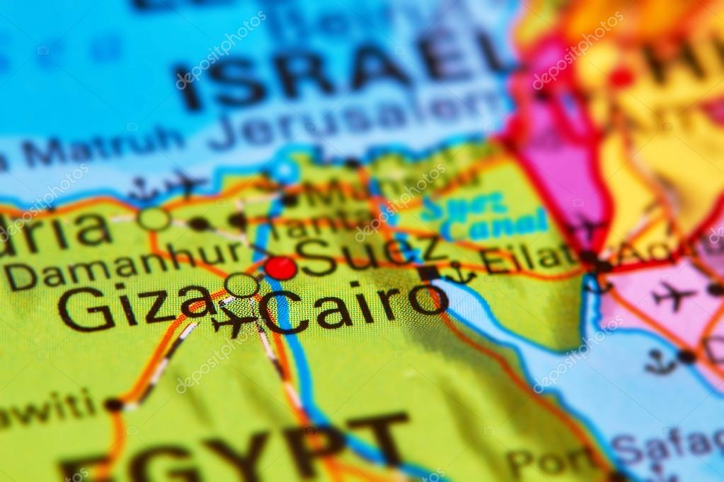 Cairo, Capital City of Egypt on the Map — Stock Photo © outchill on