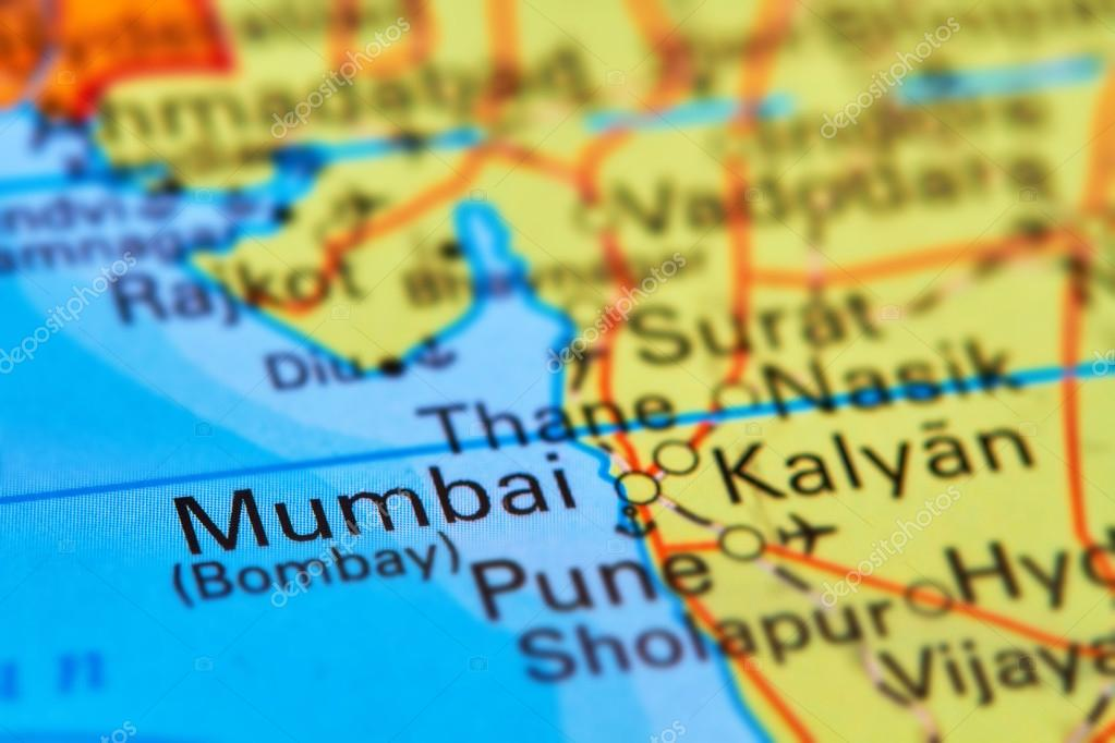Mumbai Bombay City In India On The Map Stock Photo C Outchill