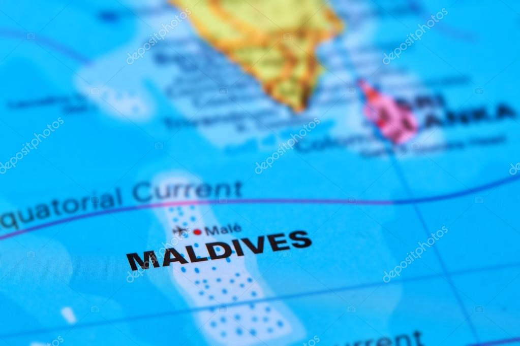 Carte Asie Maldives.Iles Des Maldives Sur La Carte Photographie Outchill C 106301826
