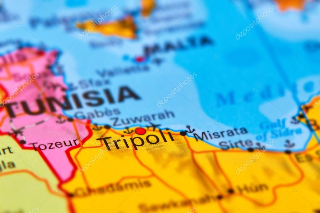 Tripoli capital city of libya on the map stock photo outchill tripoli capital city of libya in africa on the world map photo by outchill publicscrutiny Images