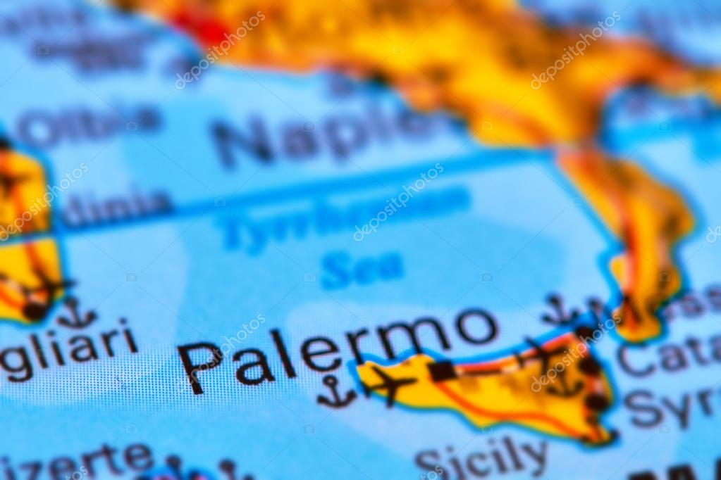 Palermo, Capital City of Sicily on the Map — Stock Photo © outchill ...