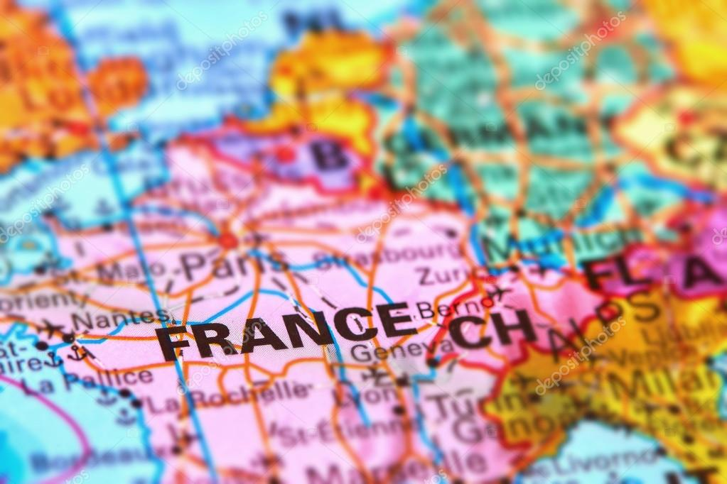France country in europe on the map stock photo outchill 106302148 france country in europe on the world map photo by outchill gumiabroncs Images
