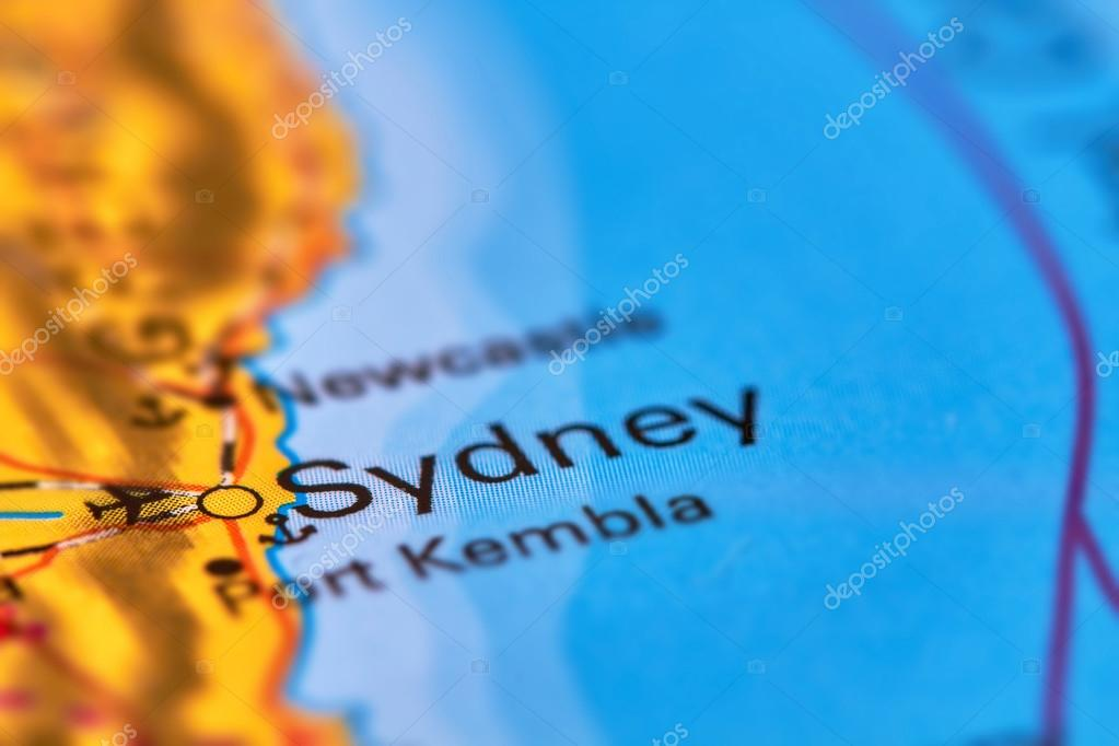 Sydney Australia World Map.City Of Sydney Australia On The Map Stock Photo C Outchill 106302492
