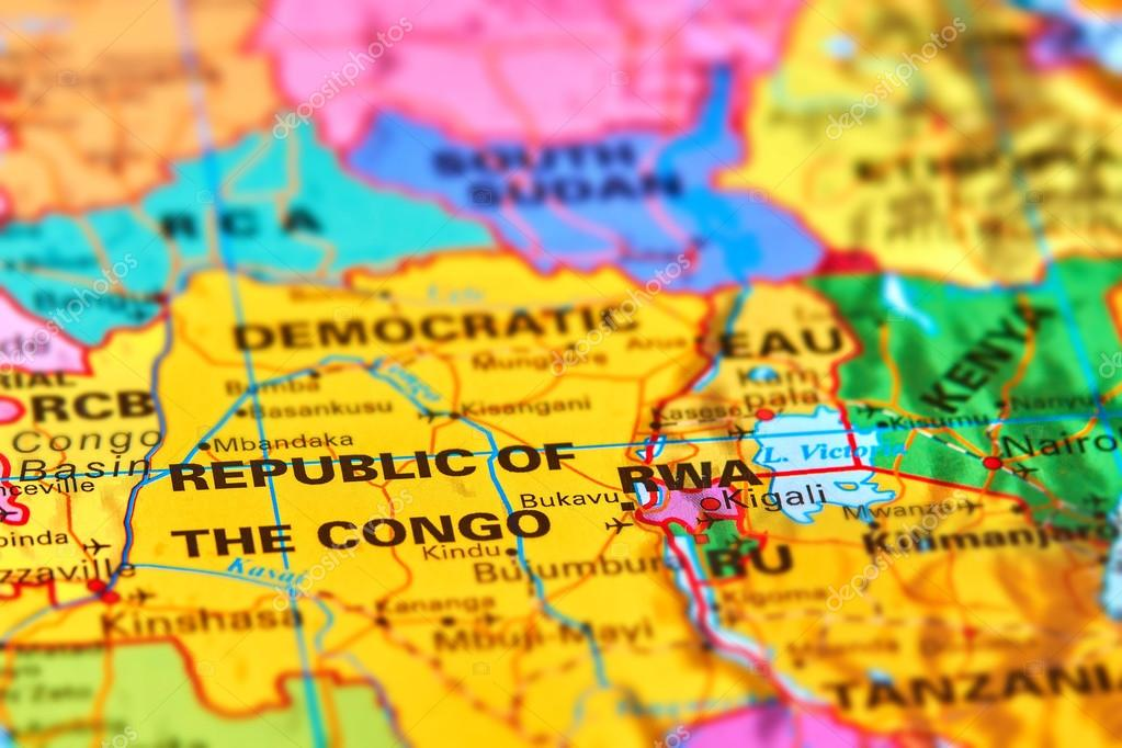 Democratic republic of congo on the map stock photo outchill democratic republic of congo in africa on the world map photo by outchill gumiabroncs Gallery