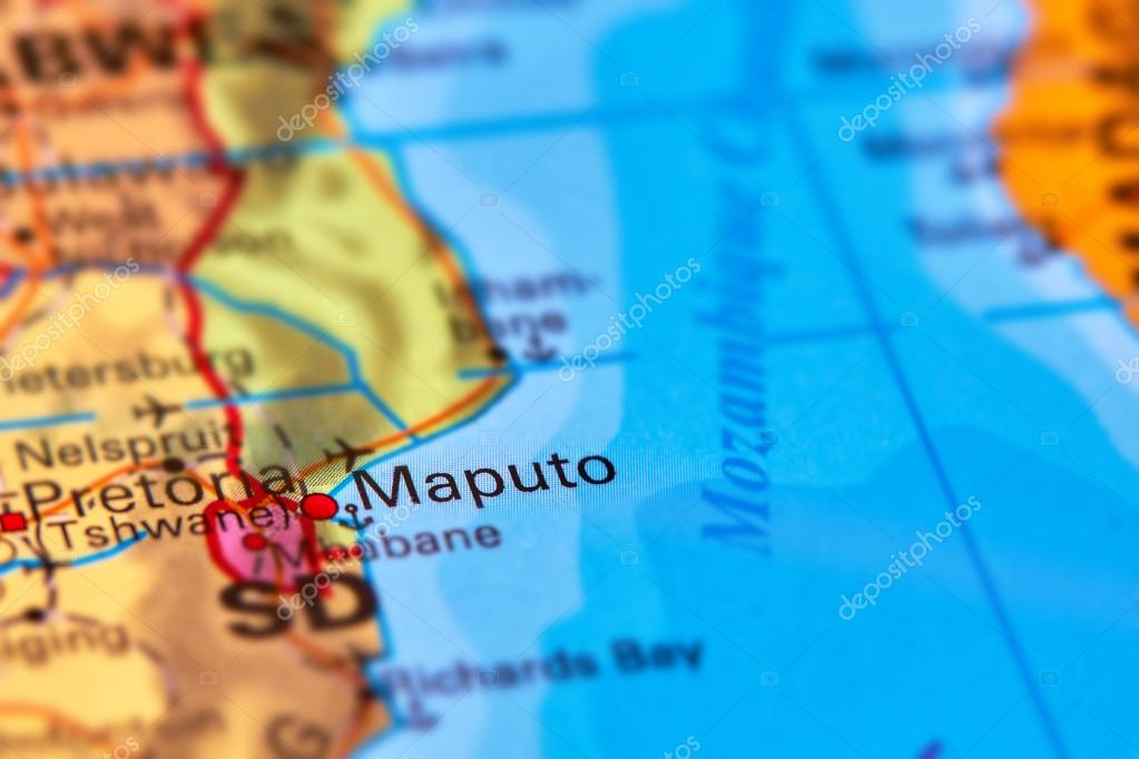 Maputo City Mozambique On The Map Stock Photo C Outchill 106302628