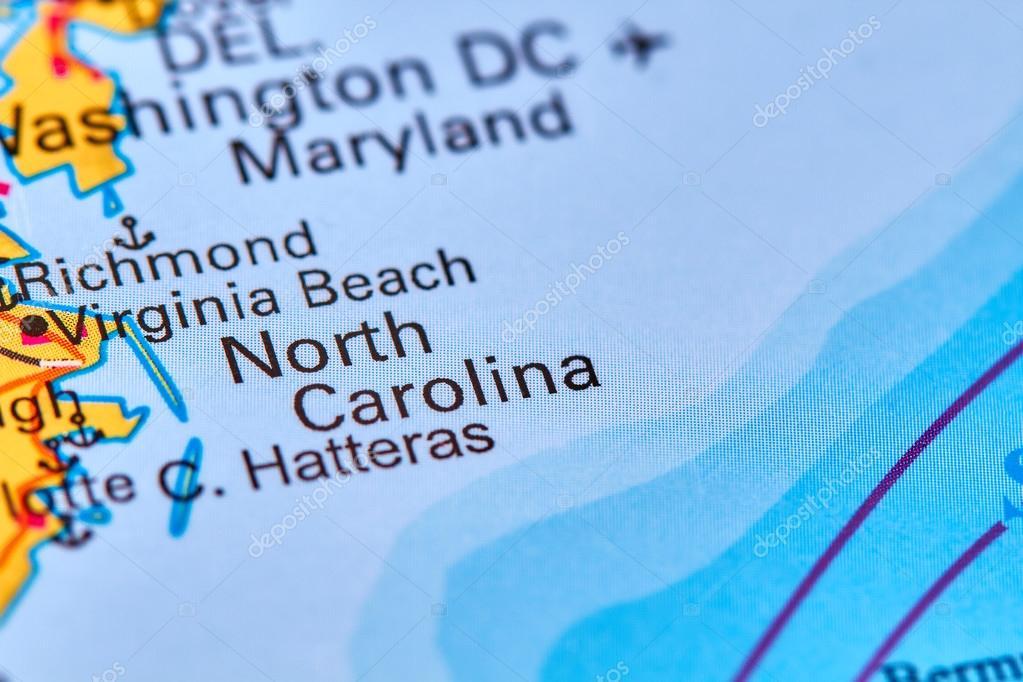 North Carolina World Map.North Carolina On The Map Stock Photo C Outchill 107394450