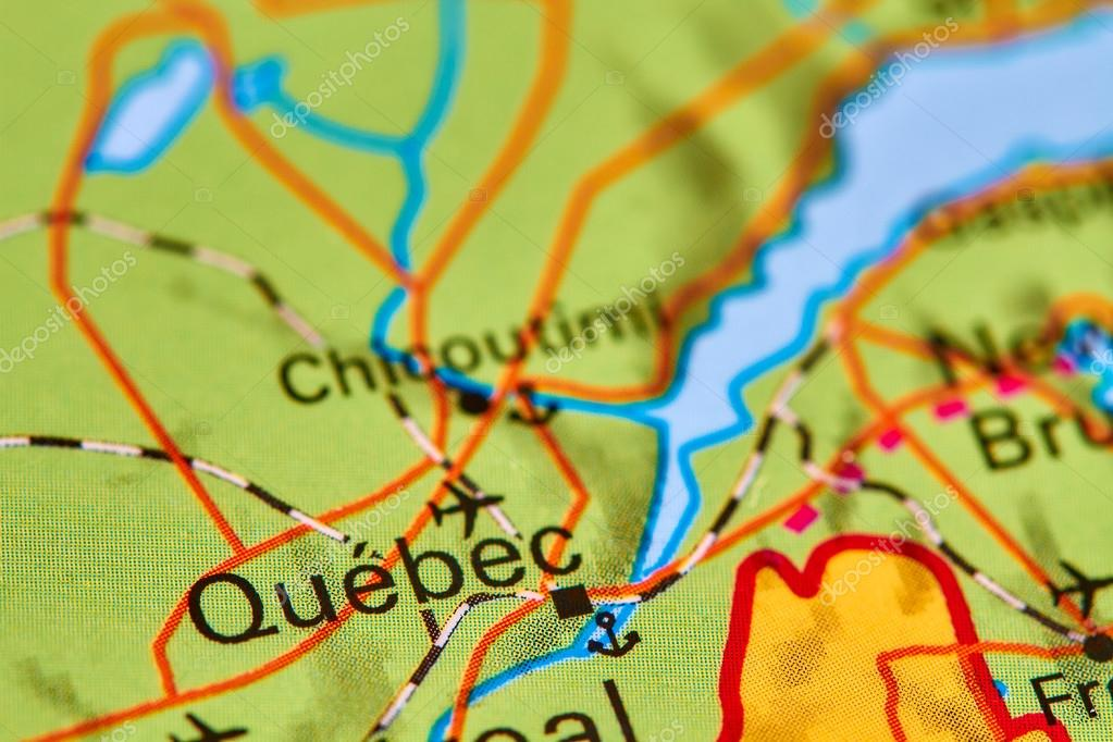 Quebec Karte.Quebec Auf Der Karte Stockfoto Outchill 107397958