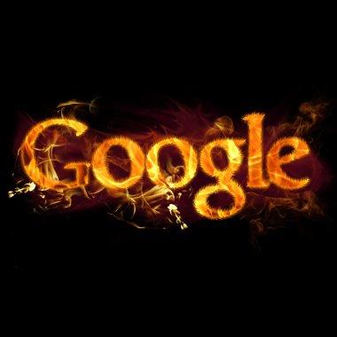 Google Logo üzerinde ateş
