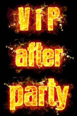Yangın metin VIP Party sonra