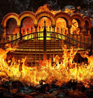 """Картина, постер, плакат, фотообои """"Ворота ада"""", артикул 68193805"""