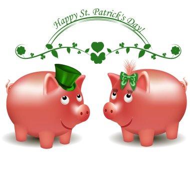 St. Patrick Day, pigs moneybox